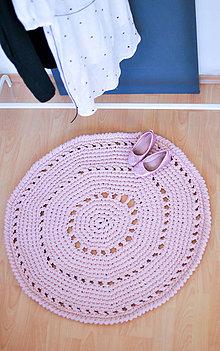 Úžitkový textil - Háčkovaný koberček - 5963141_
