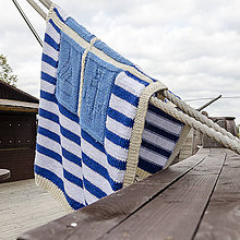 Úžitkový textil - Deka Navy - 5963336_