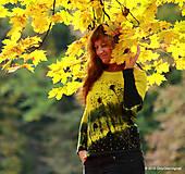 Dámske tričko batikované a maľované BAMBUSIENKY
