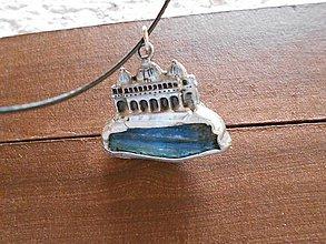 Náhrdelníky - Rezidencia-cínovaný prívesok- kyanit - 5965916_
