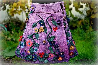 Sukne - °Ty si má levandulová°hodvábno-vlnená sukňa - 5962106_