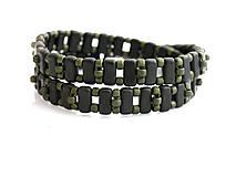 Náramky - Wrap zelený matný - 5964452_