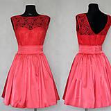 Šaty - Korzetové šaty s krajkou a polkruhovou sukňou v retro štýle - 5964989_