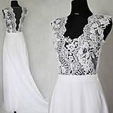 - Svadobné šaty s transparentným živôtikom  - 5965177_