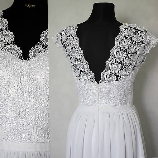 Svadobné šaty z krajky v ľudovom motíve   Dyona - SAShE.sk ... 977140e27c