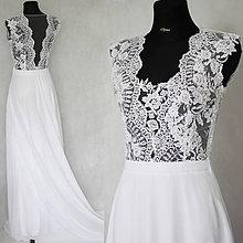 Šaty - Svadobné šaty s transparentným živôtikom - 5965177_