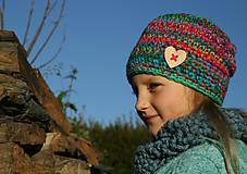 Čiapky - Háčkovaná detská čiapka Lea - 5966468_