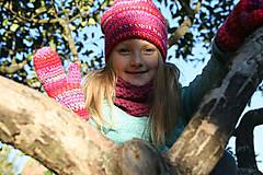 Detské súpravy - Háčkovaná súprava Rozeta - 5966476_