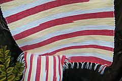 Úžitkový textil - Tkaná súprava- obliečka, koberec - 5965982_