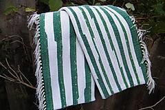 Úžitkový textil - Tkané obliečky na vankúše zeleno-biele - 5966012_