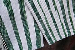Úžitkový textil - Tkané obliečky na vankúše zeleno-biele - 5966013_