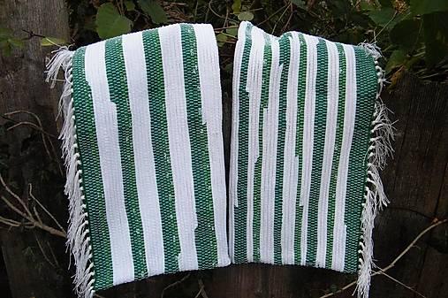 Tkané obliečky na vankúše zeleno-biele