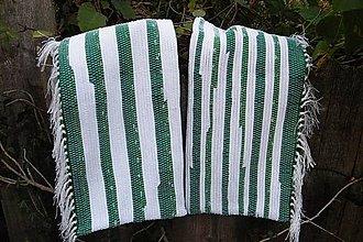 Úžitkový textil - Tkané obliečky na vankúše zeleno-biele - 5966010_