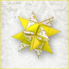 Dekorácie - Vianočné 3D hviezdy z papiera pixelové (pixelová) - 5964098_