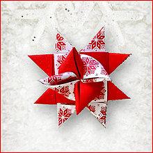 Dekorácie - Vianočné 3D hviezdy z papiera pixelové - 5965796_