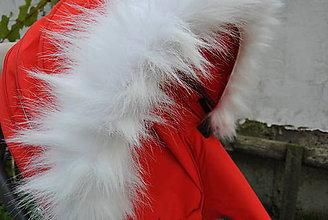 Textil - Kožušinka na striešku kočíka na mieru (biela) - 5968082_