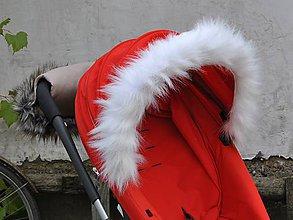 Detské doplnky - Kožušinka na striešku kočíka na mieru BIELA - 5968243_