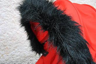 Textil - Kožušinka na striešku kočíka na mieru (čierna) - 5968298_