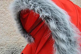 Textil - Kožušinka na striešku kočíka na mieru SVETLOŠEDÝ MELÍR - 5968336_