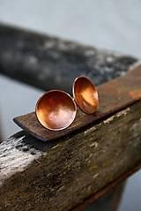 Náušnice - Simple copper - 5968178_