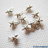 Komponenty - strieborná hviezda (Ag 925), 6 mm - 5969188_