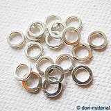 Komponenty - strieborný spojovací krúžok (Ag 925), 6 mm - 5969223_