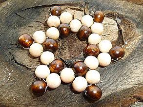 Dekorácie - Hviezdička drevenná 2 - 5969076_
