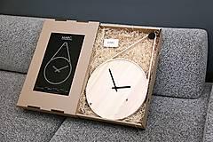 Hodiny - Marc Drop Clock - drevené nástenné hodiny - 5968462_