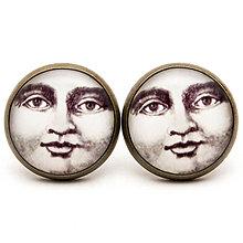 Náušnice - Moon Face - 5967143_