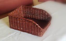 Košík hnedý so skosenou prednou stranou