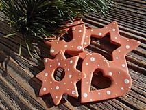 Dekorácie - vianočné ozdoby/zasnežené-sada 20 ks - 5967530_