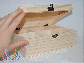 Polotovary - Krabica 6 priečinkov väčšia, ihneď - 5970686_