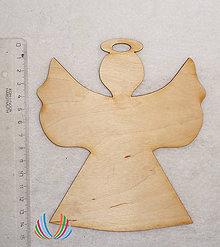 Polotovary - Drevený anjel, 15x13 cm - 5970715_