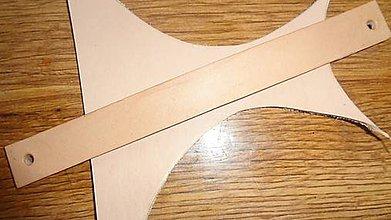 Suroviny - Úchytky na nábytok - materiál - koža - 5970012_