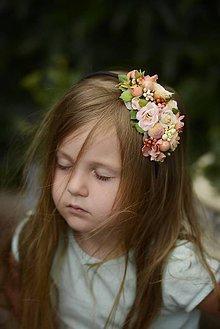 Ozdoby do vlasov - čelenka by michelle flowers - 5972276_