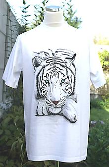 Tričká - Tričko s bielym tigrom - Le tigre - 5972518_