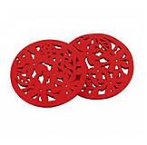 - Drevený kruh, červený /2ks - 5971839_