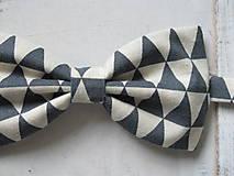 Doplnky - Pánsky motýlik - trojuholníkový - 5973339_