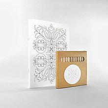 Papiernictvo - zápisník vyfarbovací • flóra - 5975827_