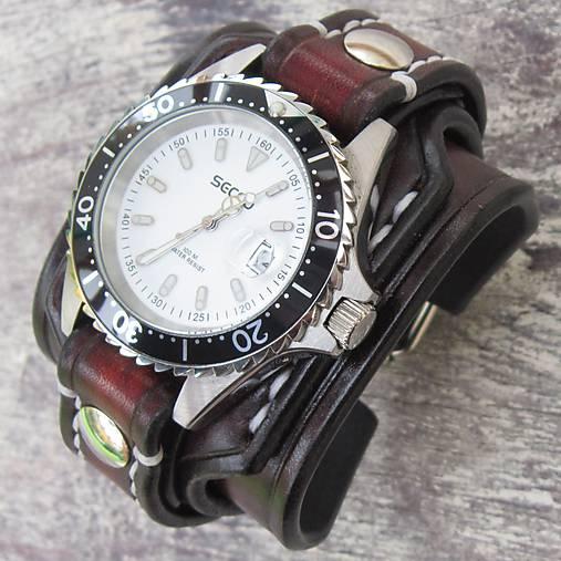 Pánske kožené hodinky vintage hnedá   leon - SAShE.sk - Handmade Náramky ec8ba372761