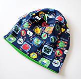 - detská čiapka obrázky modré - 5973407_
