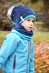 Detské súpravy - zimný set s odopínacím brmbolcom navy ...alebo farbu si vyber! - 5971904_