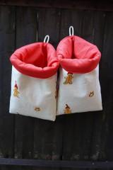 Úžitkový textil - ZĽAVA !!! látkový vianočný  košík .. - 5971330_