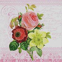 Papier - 206 kytica ruží - 5973346_