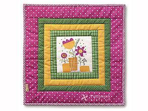 Úžitkový textil - Obliečka na vankúš Jarné kvietky - 5972888_