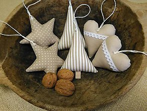 Dekorácie - béžové vianoce - 5974708_