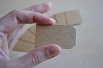Papier - Kartónové štítky, 3x5cm, 0.60€/10ks - 5972515_