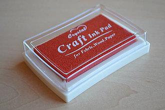 Farby-laky - Pečiatková poduška červená, 2.20€/ks - 5973767_