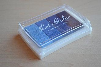 Farby-laky - Pečiatková poduška odtiene modrej, 2.50€/ks - 5973833_