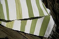 Úžitkový textil - Olivovo-biely koberec - 5975285_